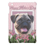 Mothers Day - Pink Tulips - Pug iPad Mini Cases