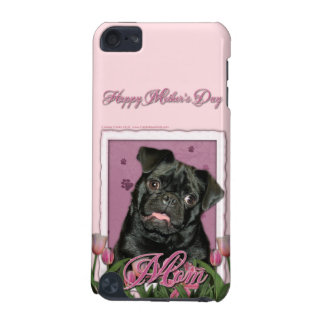 Mothers Day - Pink Tulips - Pug - Ruffy iPod Touch (5th Generation) Cover