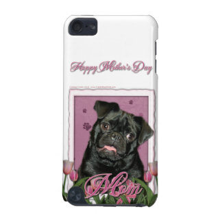 Mothers Day - Pink Tulips - Pug - Ruffy iPod Touch 5G Cover