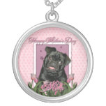 Mothers Day - Pink Tulips - Pug - Ruffy Jewelry