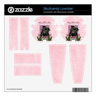 Mothers Day - Pink Tulips - Pug - Ruffy Skullcandy Skin