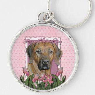 Mothers Day - Pink Tulips - Rhodesian Ridgeback Keychains