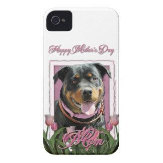 Mothers Day - Pink Tulips - Rottweiler - SambaParT Case-Mate iPhone 4 Case