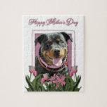Mothers Day - Pink Tulips - Rottweiler - SambaParT Puzzle