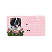 Mothers Day - Pink Tulips - Saint Bernard - Mae Label