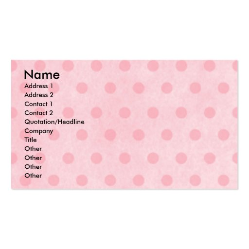 Mothers Day - Pink Tulips - Saluki Business Card Template