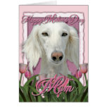 Mothers Day - Pink Tulips - Saluki Card