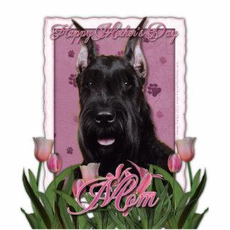 Mothers Day - Pink Tulips - Schnauzer Cutout