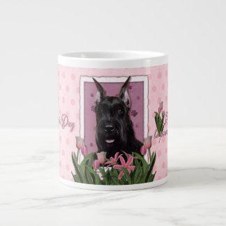 Mothers Day - Pink Tulips - Schnauzer Giant Coffee Mug
