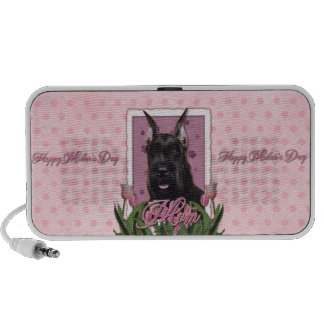 Mothers Day - Pink Tulips - Schnauzer Portable Speaker