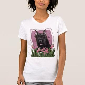 Mothers Day - Pink Tulips - Schnauzer Tshirts