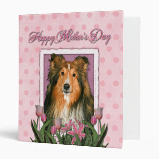 Mothers Day - Pink Tulips - Sheltie Binder
