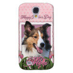 Mothers Day - Pink Tulips - Sheltie Galaxy S4 Cover