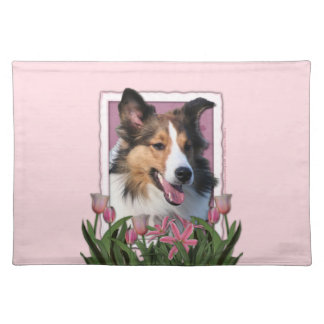 Mothers Day - Pink Tulips - Sheltie Cloth Placemat
