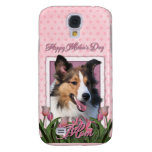 Mothers Day - Pink Tulips - Sheltie Galaxy S4 Case