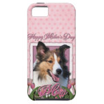 Mothers Day - Pink Tulips - Sheltie iPhone 5 Case