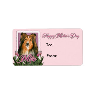 Mothers Day - Pink Tulips - Sheltie Label