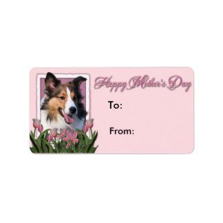 Mothers Day - Pink Tulips - Sheltie Labels