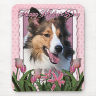 Mothers Day - Pink Tulips - Sheltie Mouse Pad
