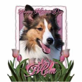Mothers Day - Pink Tulips - Sheltie Statuette