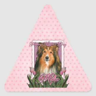 Mothers Day - Pink Tulips - Sheltie Stickers
