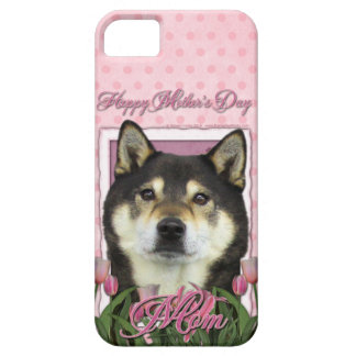 Mothers Day - Pink Tulips - Shiba Inu - Yasha iPhone SE/5/5s Case