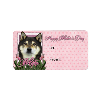 Mothers Day - Pink Tulips - Shiba Inu - Yasha Label