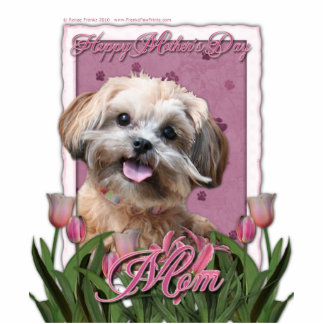 Mothers Day - Pink Tulips - ShihPoo - Maggie Cutout