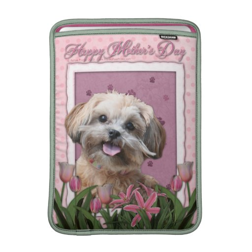 Mothers Day - Pink Tulips - ShihPoo - Maggie MacBook Air Sleeve