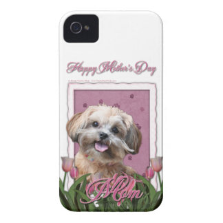 Mothers Day - Pink Tulips - ShihPoo - Maggie iPhone 4 Case