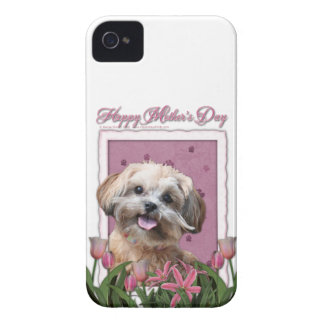Mothers Day - Pink Tulips - ShihPoo - Maggie iPhone 4 Cover