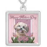 Mothers Day - Pink Tulips - ShihPoo - Maggie Custom Jewelry