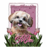 Mothers Day - Pink Tulips - ShihPoo - Maggie Photo Cut Outs