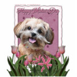 Mothers Day - Pink Tulips - ShihPoo - Maggie Photo Cut Out