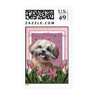 Mothers Day - Pink Tulips - ShihPoo - Maggie Postage