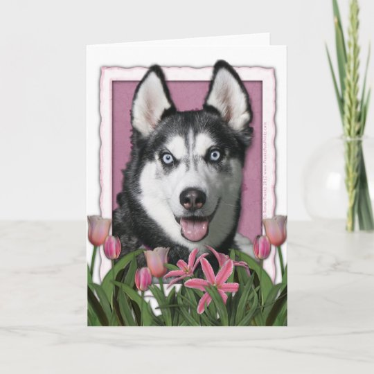 SIBERIAN HUSKY Dog Puppy Quality Chrome Keyring Picture Both Sides