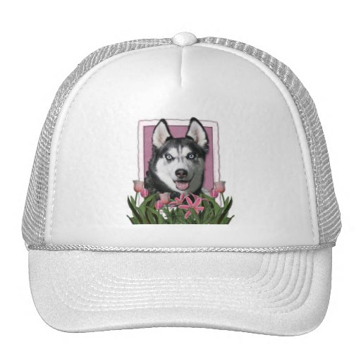 Mothers Day - Pink Tulips - Siberian Husky Hats