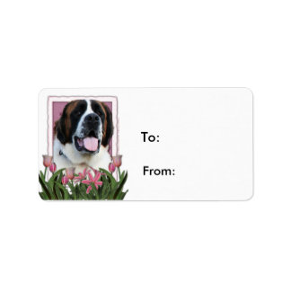 Mothers Day - Pink Tulips - St Bernard - Mae Labels