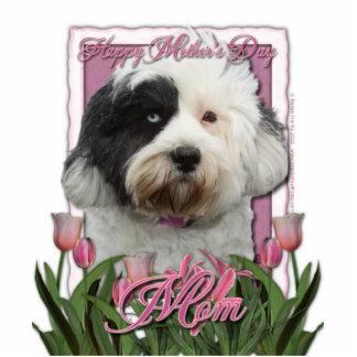 Mothers Day - Pink Tulips - Tibetan Terrier Statuette