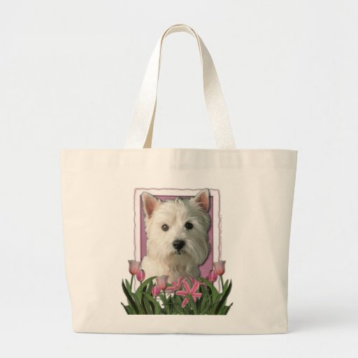 Mothers Day - Pink Tulips - Westie Bags