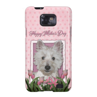 Mothers Day - Pink Tulips - Westie Galaxy S2 Covers