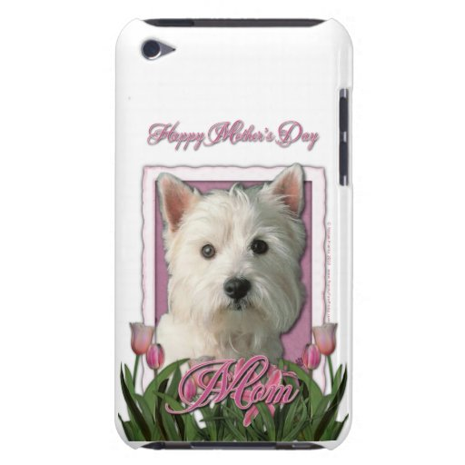 Mothers Day - Pink Tulips - Westie Barely There iPod Case