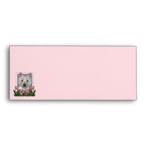 Mothers Day - Pink Tulips - Westie Envelope