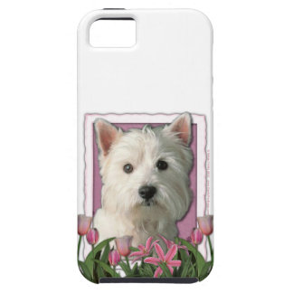 Mothers Day - Pink Tulips - Westie iPhone SE/5/5s Case