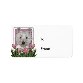 Mothers Day - Pink Tulips - Westie Label