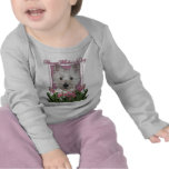 Mothers Day - Pink Tulips - Westie Tee Shirt