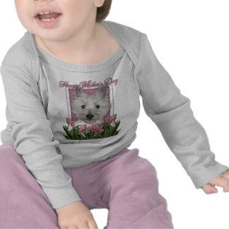 Mothers Day - Pink Tulips - Westie Tee Shirt