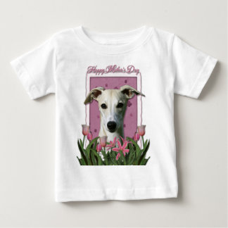 Mothers Day - Pink Tulips - Whippet Baby T-Shirt