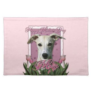 Mothers Day - Pink Tulips - Whippet Placemat