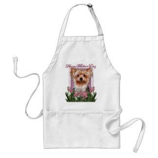 Mothers Day - Pink Tulips - Yorkshire Terrier Adult Apron